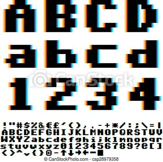 police, pixel - csp28979358