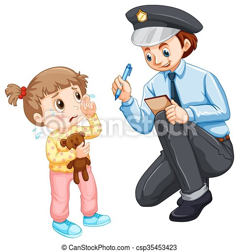 police recording lost child illustration vector illustration rh canstockphoto com lost clipart png lost clipart in microsoft office 2010