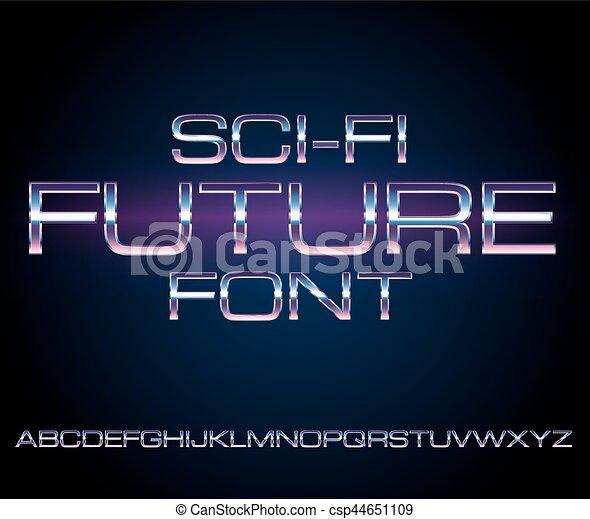 police, sci-fi, retro - csp44651109