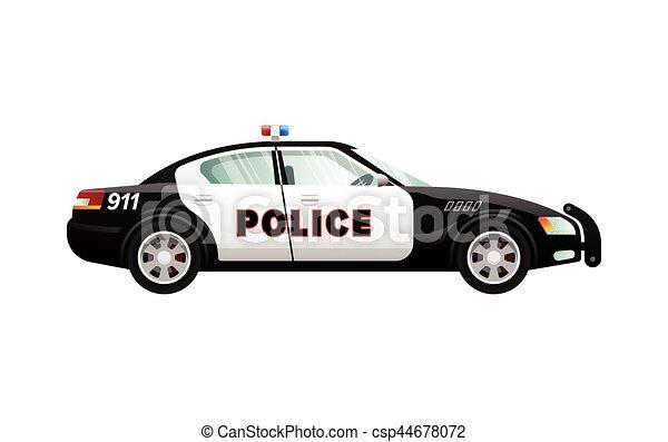 Police simple voiture v hicule vitesse dessin anim design black white simple dos - Voiture police dessin anime ...
