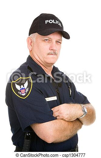 police, soupçonneux, -, officier - csp1304777
