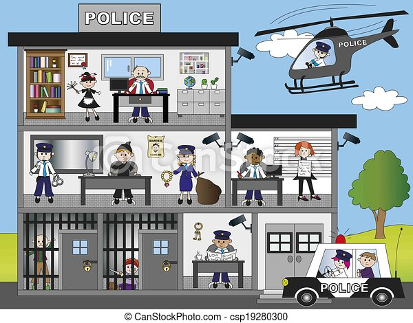 Police Station Building Clipart