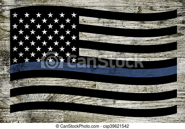 Police support flag. A waving police and law enforcement support ... bd7f05d5726