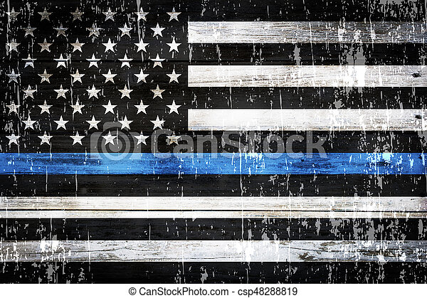 Police support flag weathered background. An american flag symbolic ... 2cb4d85b442