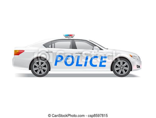 police, voiture reconnaissance - csp8597815