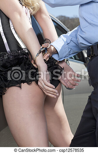 women Sexy handcuffed