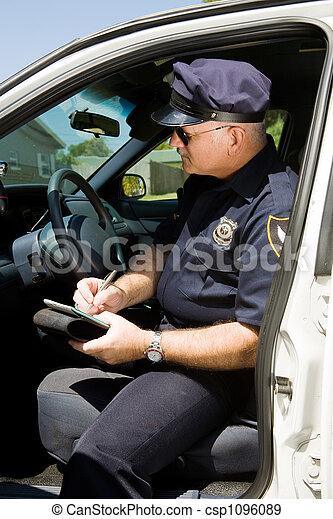 Police - Writing Citation - csp1096089