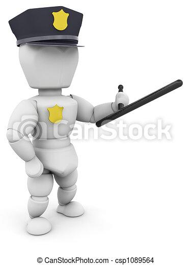 Policeman - csp1089564