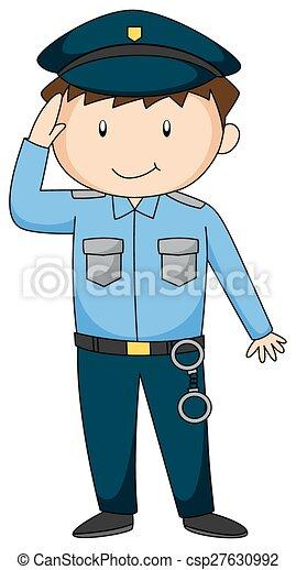 Policeman - csp27630992