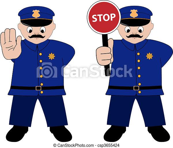 policeman - csp3655424