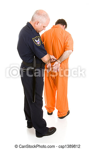 Policeman Handcuffs Prisoner - csp1389812