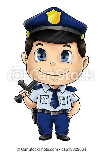 Policeman Cute cartoon illustration of a policeman