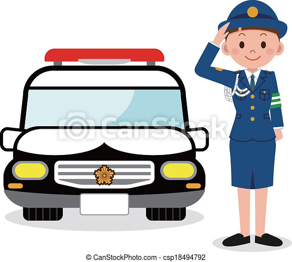 policewoman and a police car eps vectors search clip art rh canstockphoto com police officer car clipart police car clipart black and white