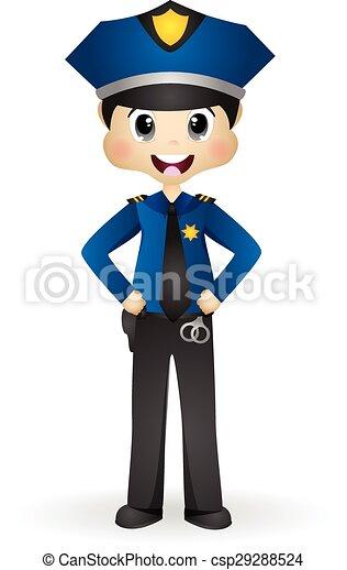 Policier gendarme colourfull police policier officier - Gendarme dessin ...