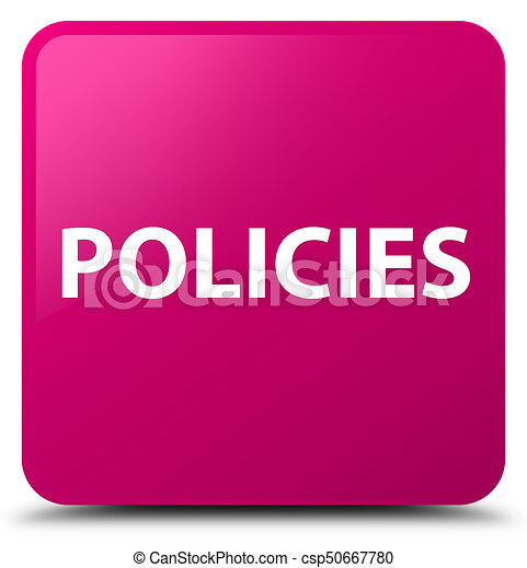 Policies pink square button - csp50667780