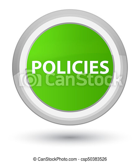 Policies prime soft green round button - csp50383526