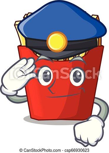 policja, smaży, francuski, drewno, nad, stół, rysunek - csp66930623
