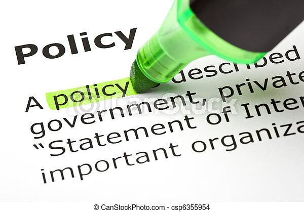 'policy', выделенный, зеленый - csp6355954