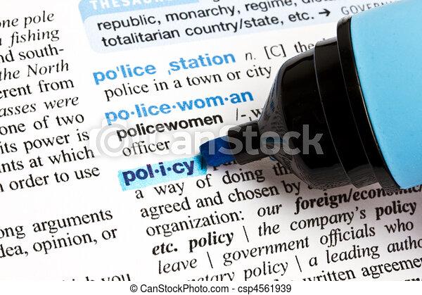 """""""policy"""", выделенный, слово - csp4561939"""