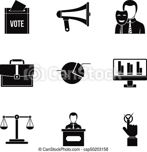 Policy Icons Set Simple Style Policy Icons Set Simple Style Set