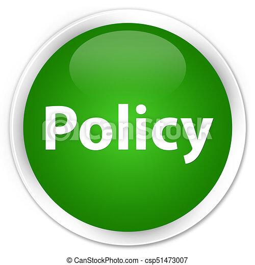 Policy premium green round button - csp51473007