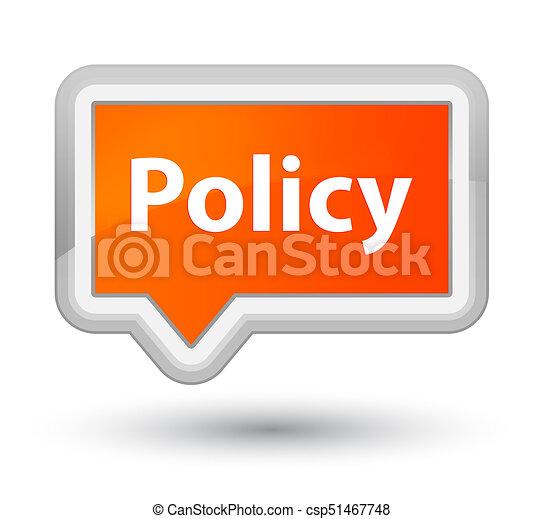 Policy prime orange banner button - csp51467748