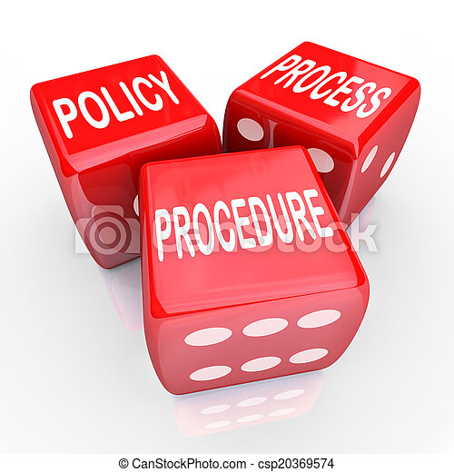 Policy Process Procedure 3 Red Dice Company Rules Practices - csp20369574