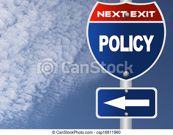 Policy road sign - csp16811960