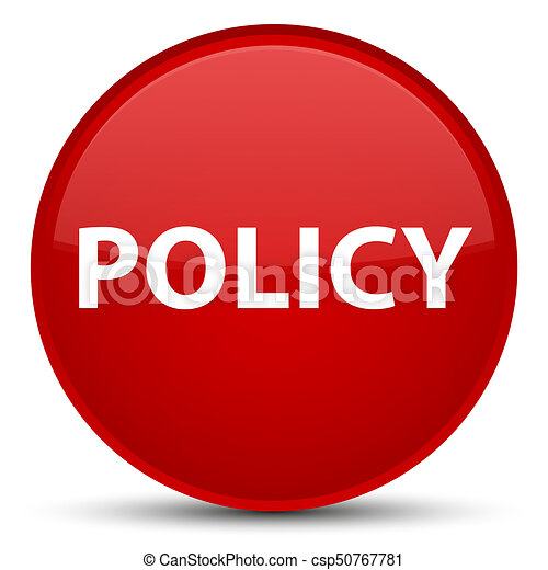 Policy special red round button - csp50767781