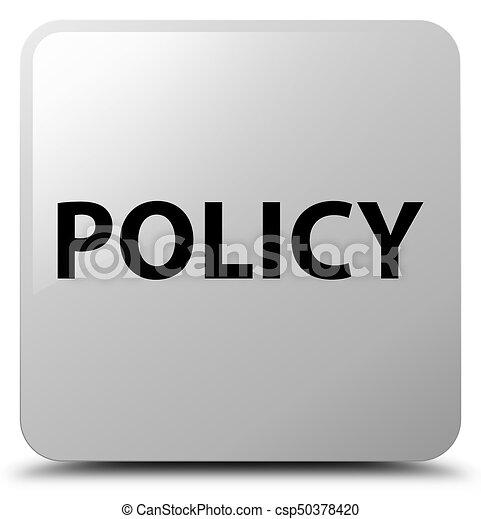 Policy white square button - csp50378420