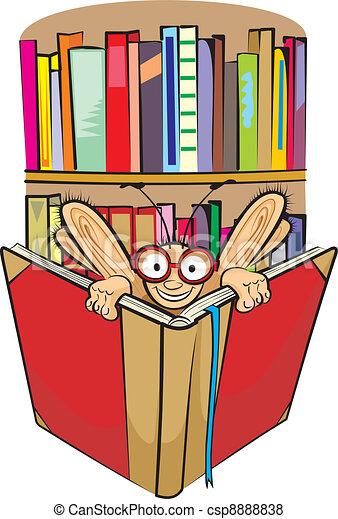 Ratón de biblioteca y biblioteca - csp8888838