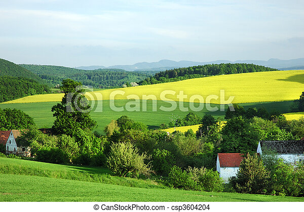 Polish countryside landscape - csp3604204