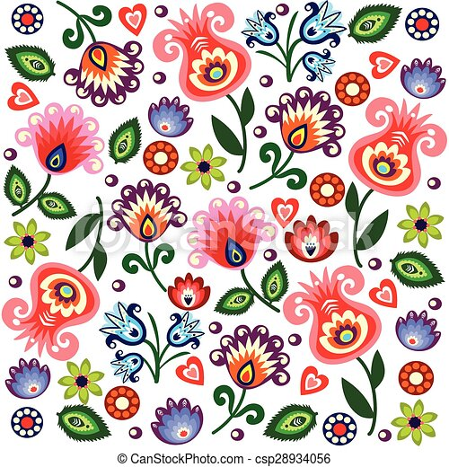 polish folk pattern - csp28934056