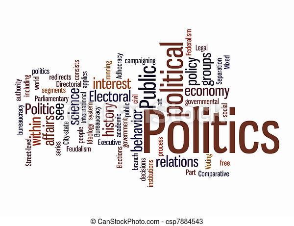 politic, 雲, 単語 - csp7884543