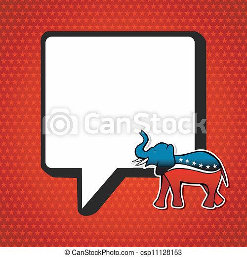 politic, mensagem, republicano, elections:, eua - csp11128153