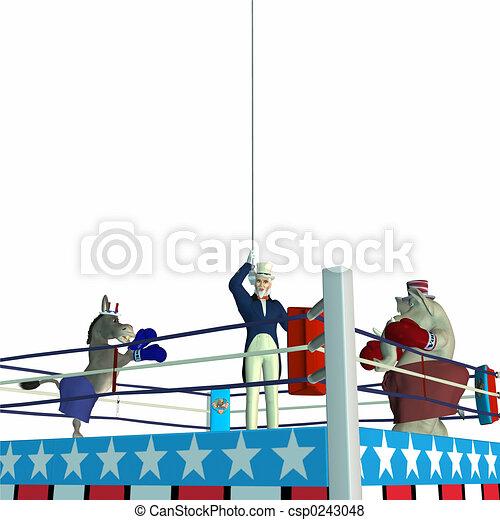 Political Boxing - csp0243048