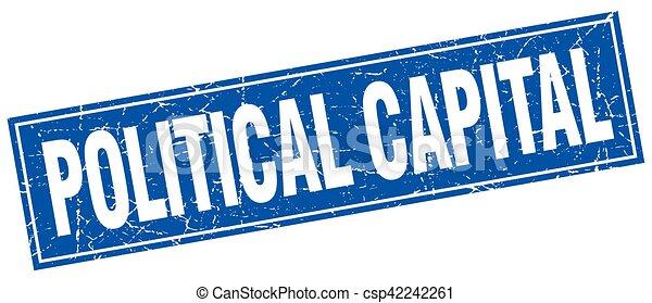 Political Capital Square Stamp