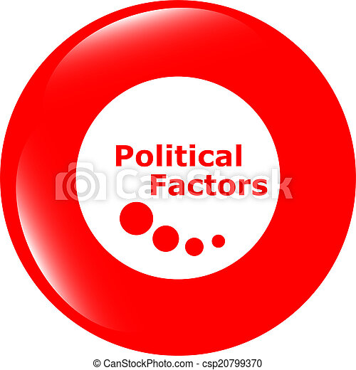 political factors web button, icon isolated on white - csp20799370