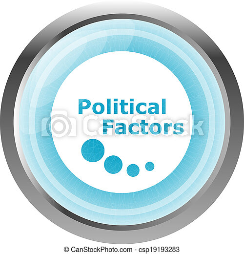 political factors web button, icon isolated on white - csp19193283