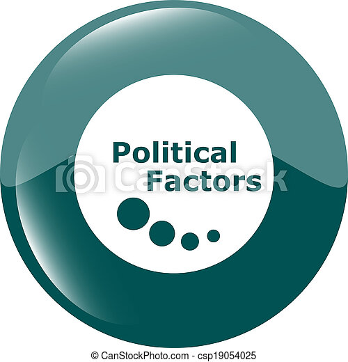 political factors web button, icon isolated on white - csp19054025