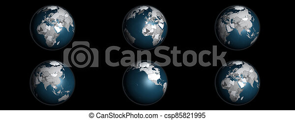 Political Globe Collage - csp85821995