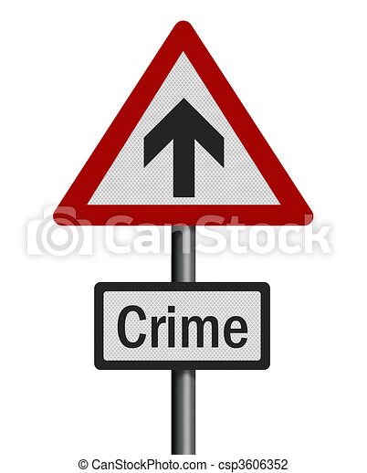 Political issue: \'rise in crime rate\' concept. Photo realistic s - csp3606352