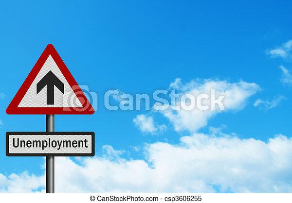 Political issue: \\\'sky high unemployment\\\' concept. Photo realist - csp3606255