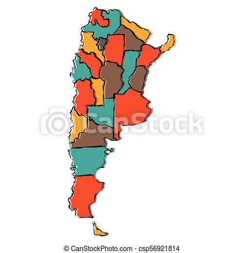 Political map of Argentina - csp56921814