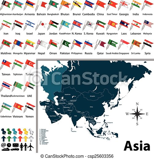 Political map of Asia - csp25603356