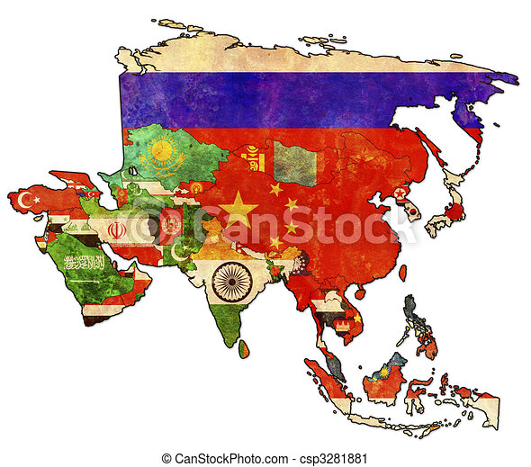 political map of asia - csp3281881