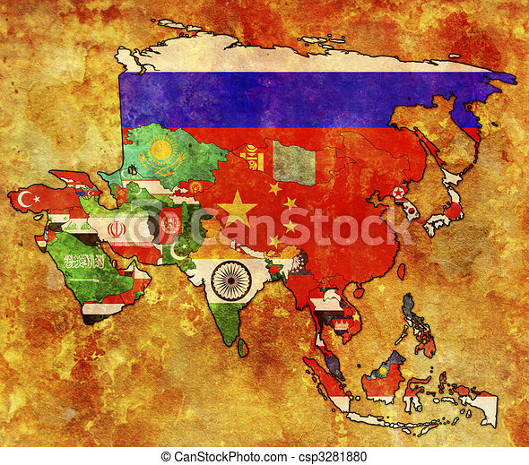 political map of asia - csp3281880