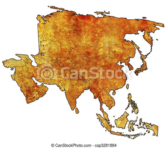 political map of asia - csp3281884