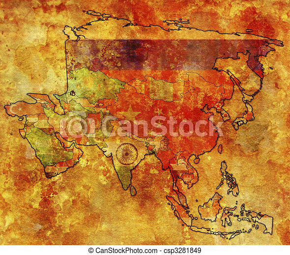political map of asia - csp3281849