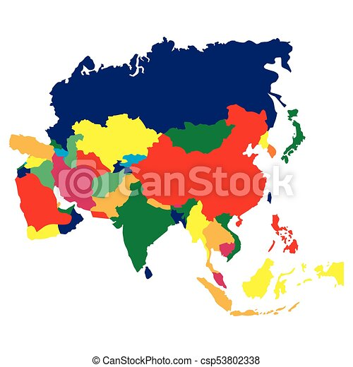 Political map of Asia - csp53802338